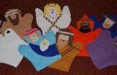 Hoe maak je vilt Nativity handpoppen
