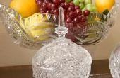 Wat kan worden gebruikt voor het decoreren van een Crystal Bowl?