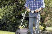 Het oplossen van een grasmaaier die begint en sterft