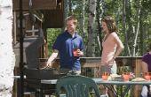 Hoe dicht kan je een barbecue aan het hout buitenmuur van een huis?