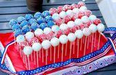 Hoe maak je een Cake Pop patriottische vlag middelpunt
