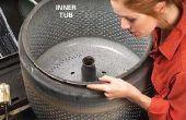 Hoe maak je een vreugdevuur kuil uit een oude wasmachine Tub