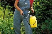 Het gebruik van een tuin sproeier voor vlekken