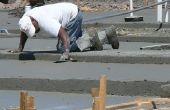 Hoe om te vormen van de toevoeging van een betonvloer