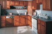 Hoe schoon keukenkasten met azijn
