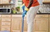 Hoe droog de vloer na het dweilen