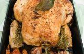 Hoeveel tijd voor geroosterde groenten rond een kip?