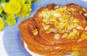 Wat gebeurt er met zetmeel korrels wanneer het gebakje Is gebakken?