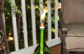 Hoe maak je een fles wijn Tiki fakkel