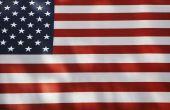 Het weergeven van een Amerikaanse vlag zonder een pool