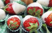 Hoe bewaart u chocolade bedekte aardbeien