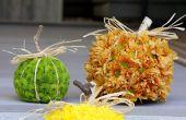 Hoe maak je seizoensgebonden pompoen-vormige bloemstukken