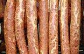 Hoe lang om op te hangen van koud gerookte herten worst