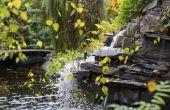 Achtertuin waterval vijver ideeën