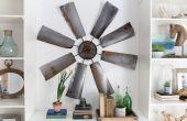 Fixer bovenste kunst: DIY windmolen muur Decor