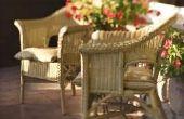 Wat Is een beschermende afwerking voor Wicker stoelen?