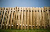 Groene schimmel verwijderen van Hout Fence
