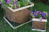 DIY kippengaas Planter vak