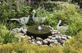 Hoe Winter voorbereiden een tuin fontein