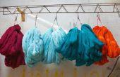 Het gebruik van de wasmachine te verven van stof