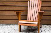 Plannen voor het maken van een Adirondack stoel voor lange mensen