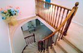 Hoe installeer ik een trap loper op bochtige trappen