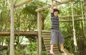 Ideeën voor een achtertuin lay-out van een speeltuin & een zandbak