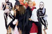 Zelfgemaakte Halloween kostuums voor vrouwen met behulp van zwarte jurken