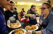 Hoe vrijwilliger bij een lokale dakloze onderdak