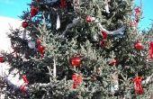 Ideeën voor een zilveren & rode kerstboom