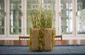 DIY moderne Upcycled Sisal Planter (uit granen dozen!)