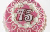 Hoe maak je tabel decoraties voor een 75e verjaardag