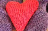 Hoe te breien een hart gevormde Pocket Hand Warmer