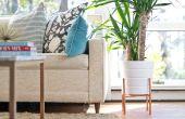DIY verhoogde koperen pijp Plant Stand