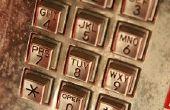Het opzoeken van het adres van een telefooncel