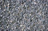 Hoe te zetten van Pea grind in beton