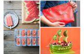 Watermeloen DIYs tot feest op
