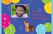 Hoe maak je verjaardagskaarten met foto 's