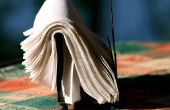 Hoe te vouwen van een servet zoals een beha