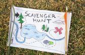 Ideeën voor buiten Scavenger Hunt aanwijzingen
