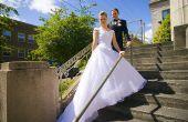 Hoe opnieuw uitvoeren van een trouwjurk