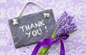 Hoe om te zeggen dank u
