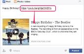 Hoe te sturen van een verjaardag-groet op Facebook