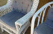 Hoe om te herstellen van buiten rieten meubels