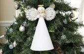 Hoe maak je een Angel papier voor de Top van een kerstboom
