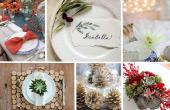 12 DIYs maken een prachtige vakantie tabel instellen
