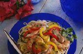 Kunt u Cook garnalen Scampi de nacht voor een feest?