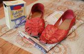 Een benzine-geur uit schoenen verwijderen