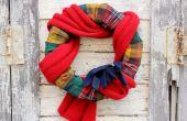 Hoe maak je een gezellige krans met flanel en een sjaal