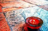 Hoe krijg ik Candle Wax uit tegelvloeren